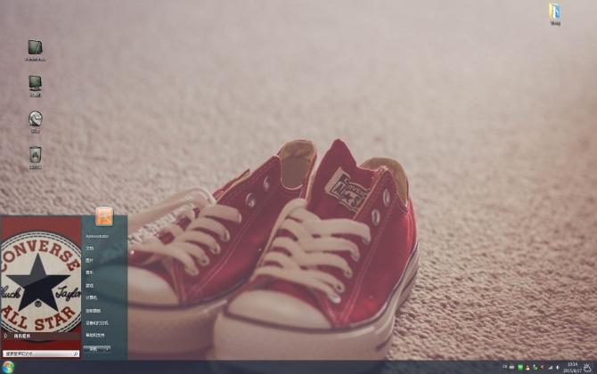 红色匡威球鞋win7主题