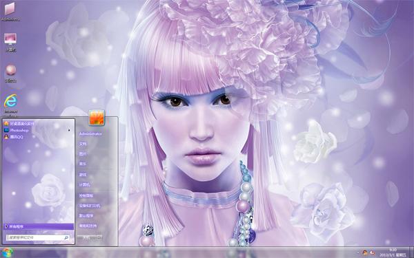 时尚CG美女win7电脑主题
