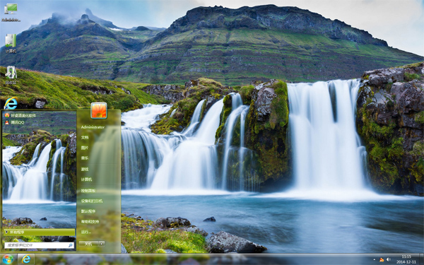 秀美山水瀑布风景主题