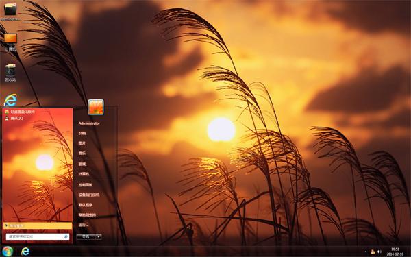 夕阳芦苇丛桌面主题