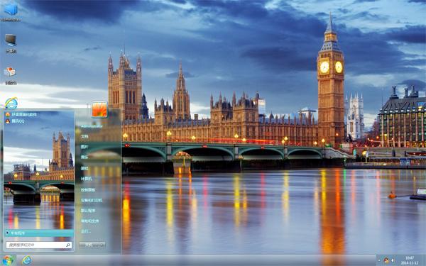 伦敦城市美景主题