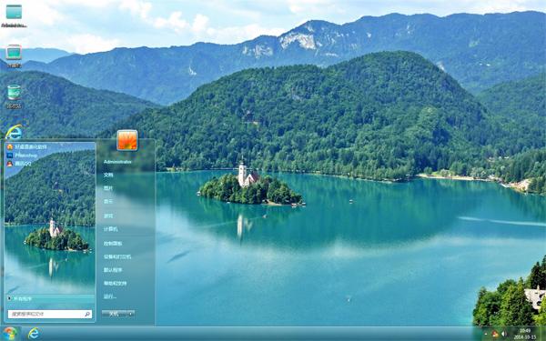 湖心城堡风景主题
