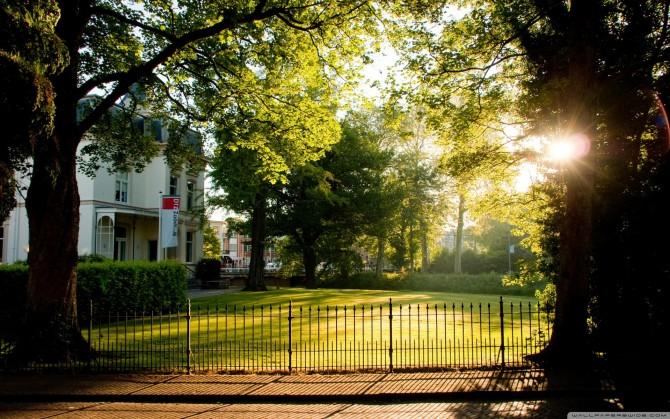 早晨的霞光高清风景桌面壁纸