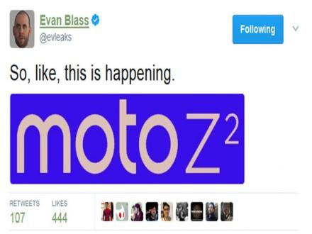 Moto模块化新机Moto Z2曝光:或配骁龙835