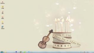梦色蛋糕win7桌面主题下载