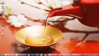 红色茶壶Win7电脑主题下载