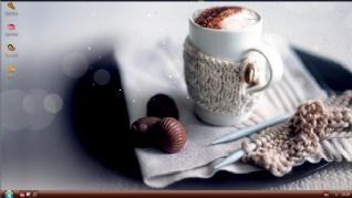喝卡布奇咖啡主题