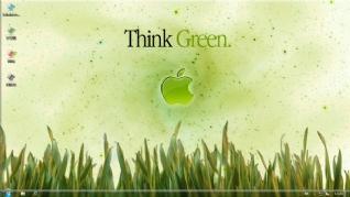 绿色小草win7电脑主题下载