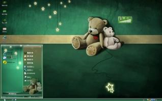 玩偶小熊电脑桌面xp主题