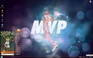 NBA球星凯文・杜兰特win7主题