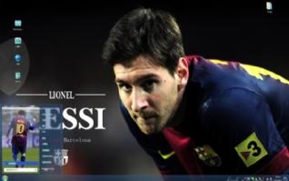 足球巨星梅西win7主题