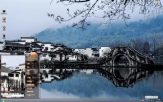 徽州冬天风景win7主题