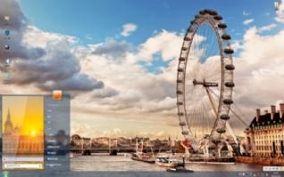 伦敦美景win7主题