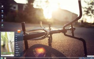 唯美自行车主题win7主题