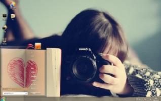 非主流女孩图片win7主题下载