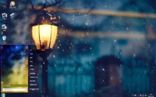 雪夜暖光win7电脑桌面