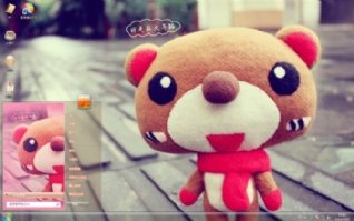 玩偶小熊win7主题下载