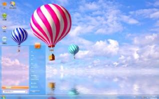 蓝天热气球win7主题下载
