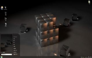 3D设计魔方win7电脑主题