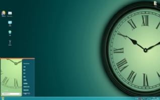 罗马复古时钟win7电脑主题