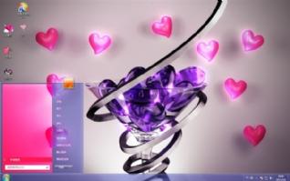 水晶的心win7电脑桌面壁纸