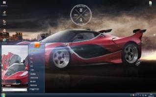 法拉利FXX高清跑车win7主题