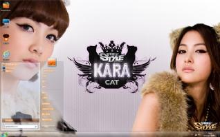 KARA美女组合win7主题
