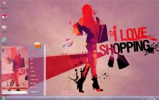 我爱购物win7桌面主题