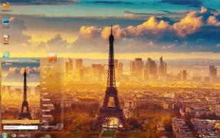 巴黎铁塔风景主题