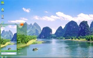 青山绿水湖泊主题