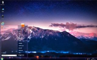 阿尔卑斯山唯美风景主题