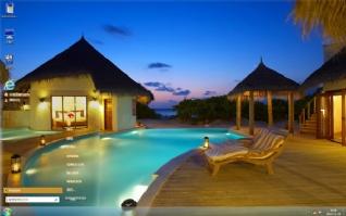 马尔代夫度假区风景主题