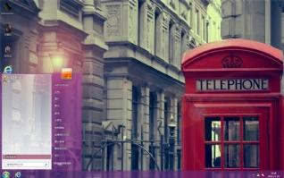 复古红色电话亭主题