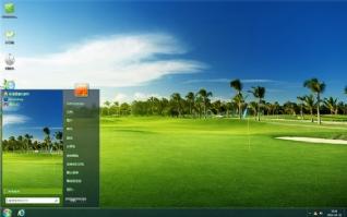 绿色高尔夫球场风景主题