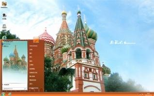 俄罗斯教堂风景主题