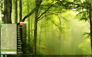 绿色山林风景主题