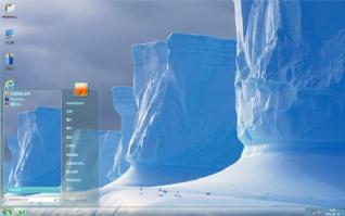 南极冰山风景主题