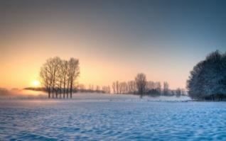冬季雪景照片自然风景桌面壁纸