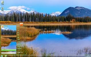 加拿大班夫国家公园风景win7主题
