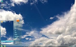 天空白云自然风景win7主题