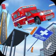 救护车房顶上跳下:不可能特技