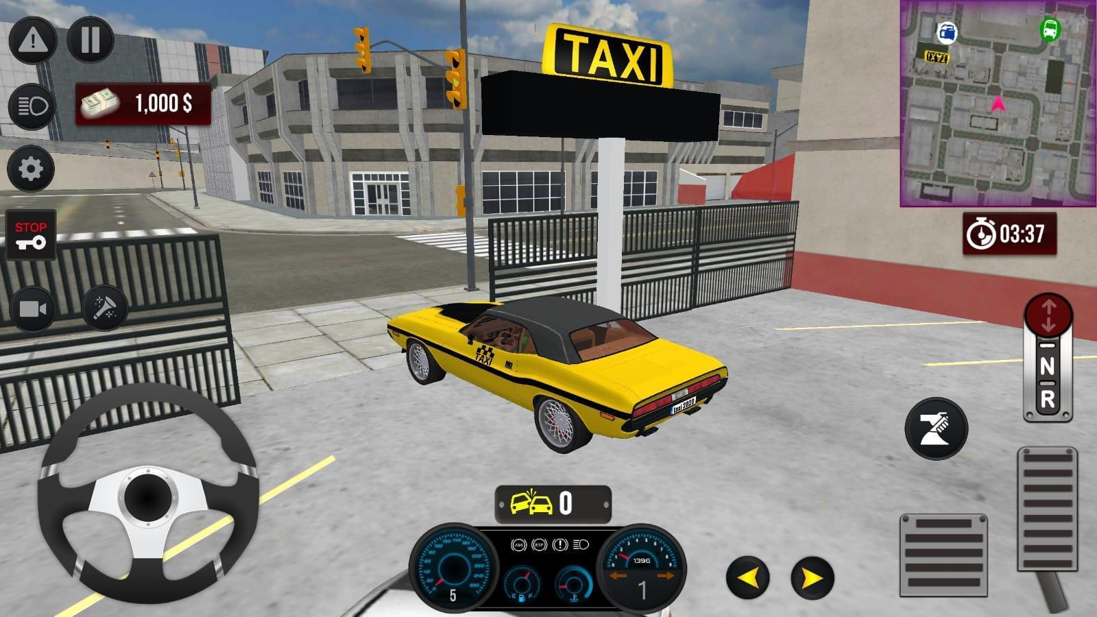 黄色出租车模拟器驾驶