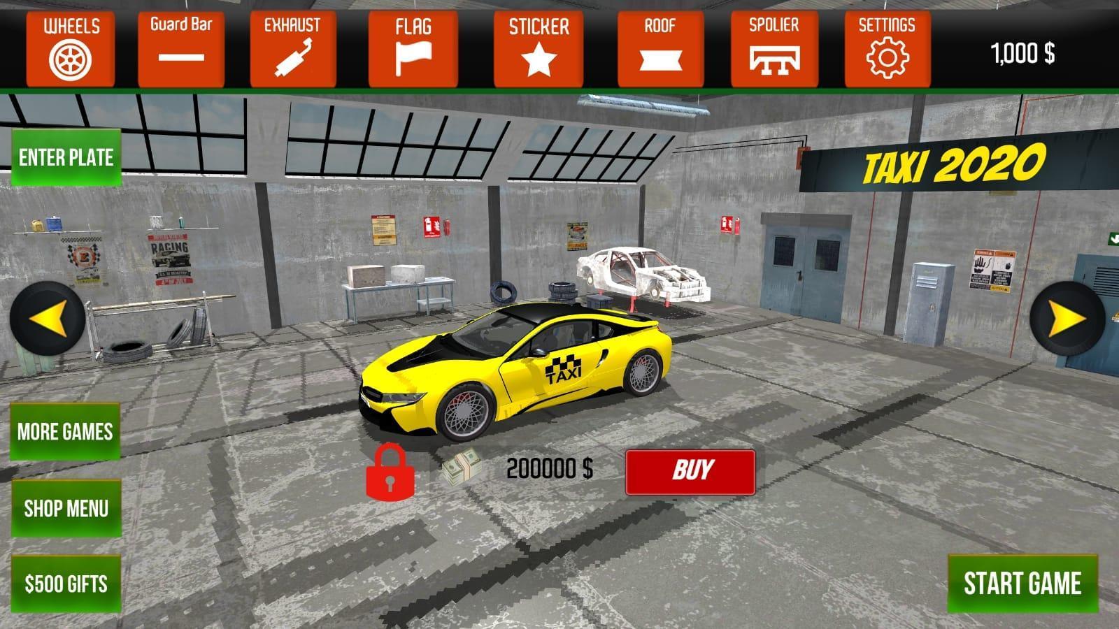 黄色汽车出租车模拟器手机版