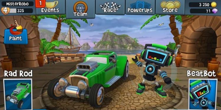 沙滩赛车竞速2汉化版
