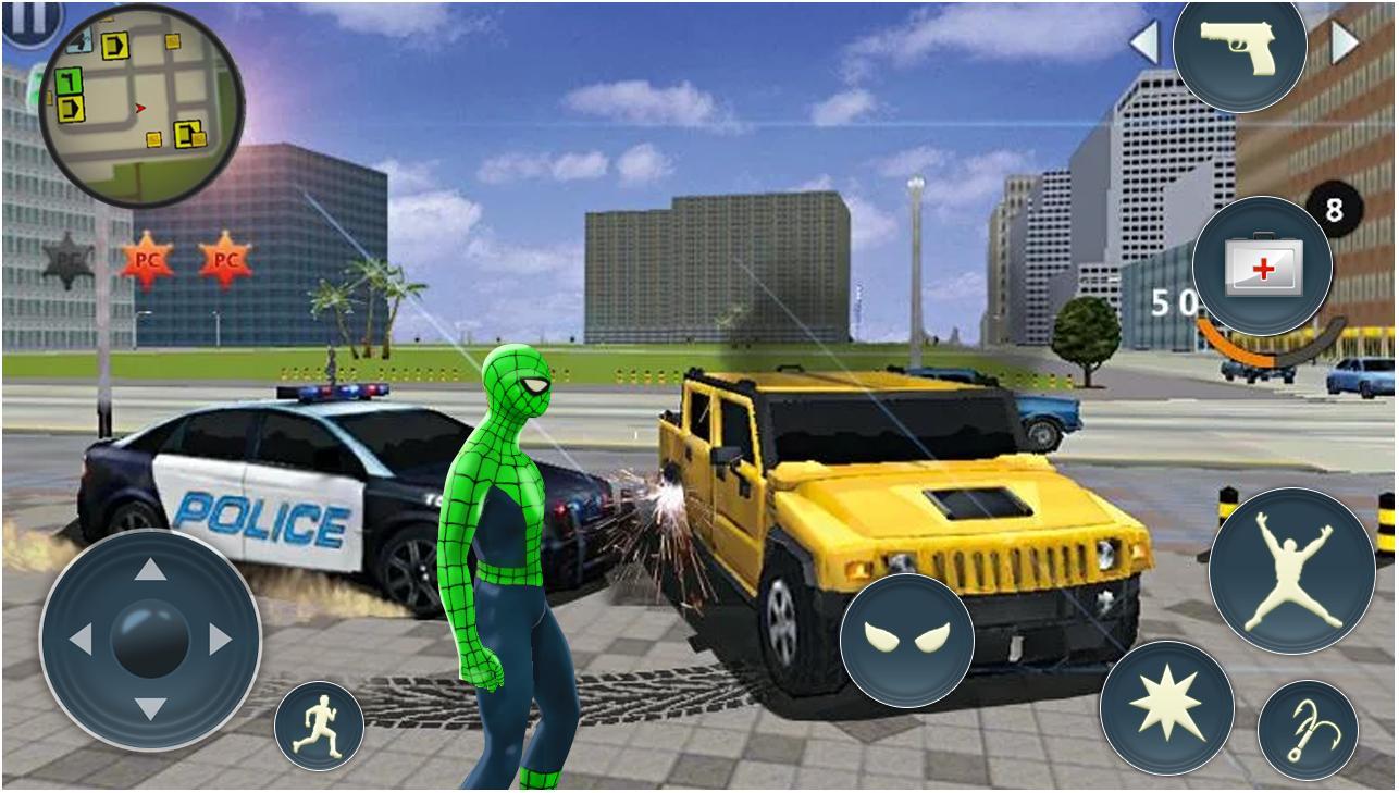 黑帮犯罪城蜘蛛绳超级英雄无敌版