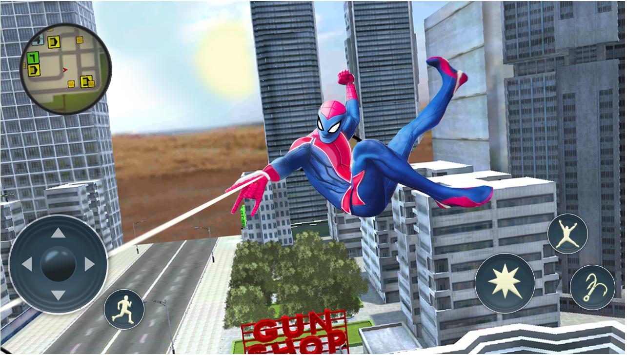 黑帮犯罪城蜘蛛绳超级英雄角色全解锁版