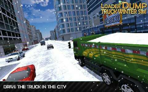 装载机和自卸车冬季模拟汉化版下载