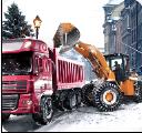 装载机自卸卡车冬季模拟