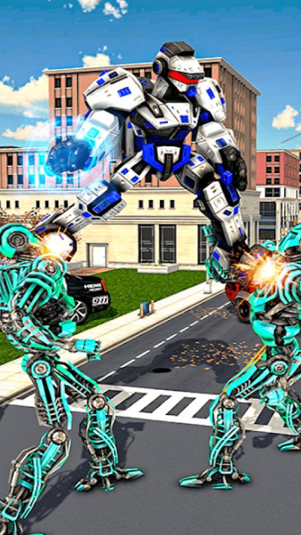 警车变形机器人修改版