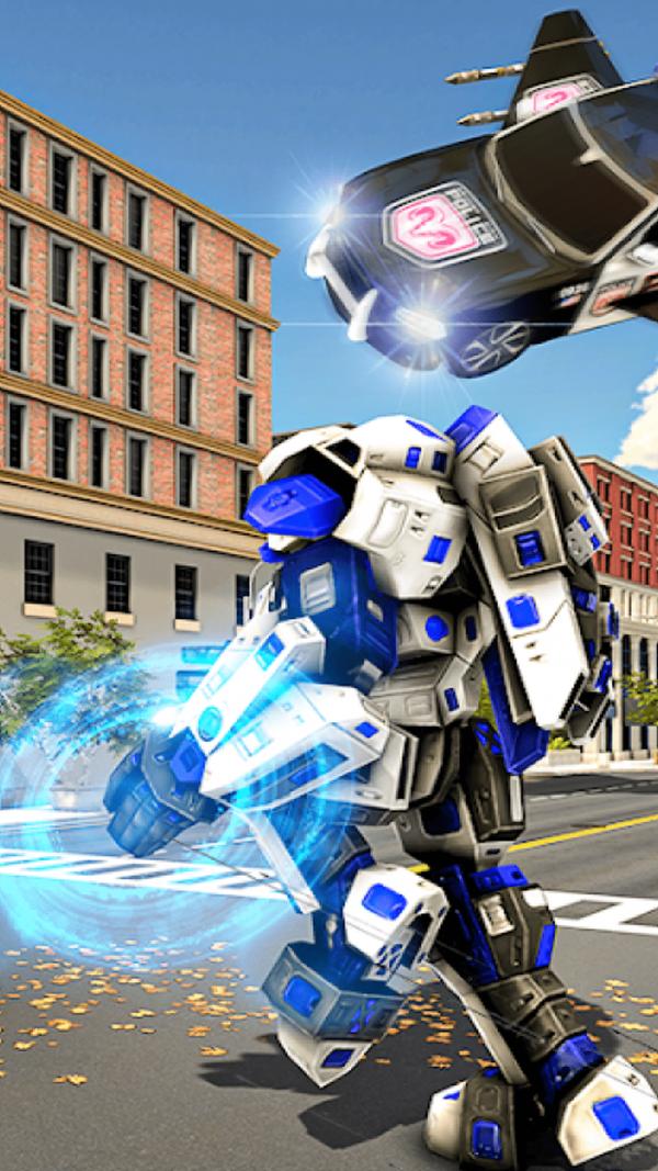警车变形机器人全关卡解锁版